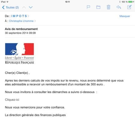 impôt remboursement 300€
