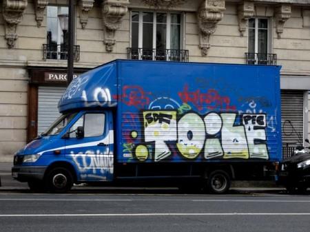 camion graff toile